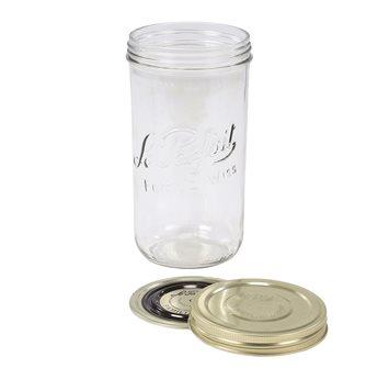 Bocal Familia Wiss® 1 500 g avec sa capsule et son couvercle