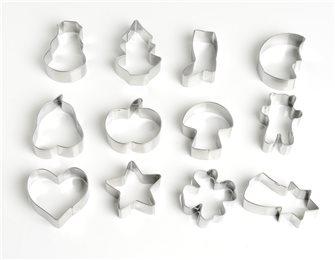 12 emporte-pièces inox Hiver et Noël