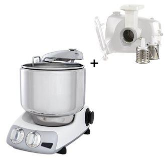 Robot pâtissier suédois multifonctions blanc avec coupe légumes