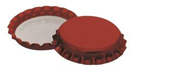 Bouchons couronne 29 mm rouges pour bouteilles à vin
