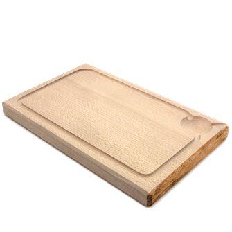 Planche à découper 50x28 cm d´une pièce avec rigole fabriquée en France