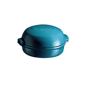 Plat à fromage rôti au four en céramique bleu Calanque Emile Henry
