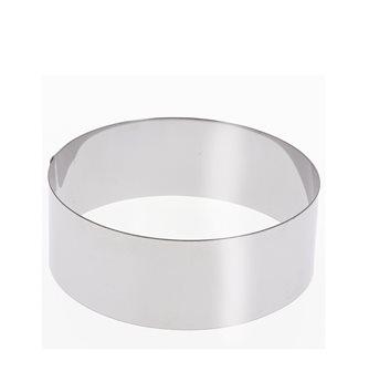 Cercle inox 20 cm haut 6 cm pour vacherin et autres pâtisseries
