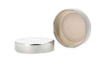 Capsule pour Bocal Jupe Haute diam 58 mm couleur argent par 1070