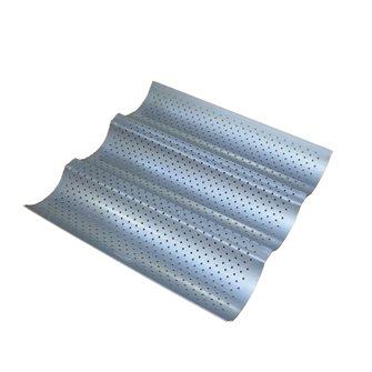 Moule à 3 baguettes pour mini four plaque perforée antiadhésive
