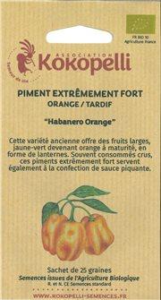 Graines de piment Habanero Orange
