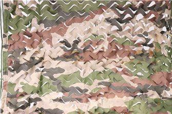 Filet de camouflage ou d´ombrage imprimé camouflage 7,5 x 7,5 m