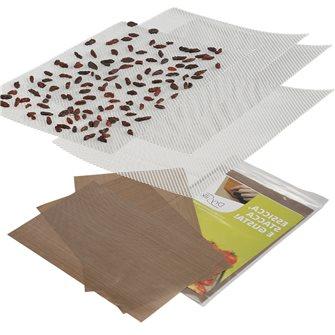 Set de 6 feuilles DrySilk et 6 grilles souples pour plateau de déshydrateur
